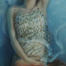 「水影」 パネルに油彩 2016年