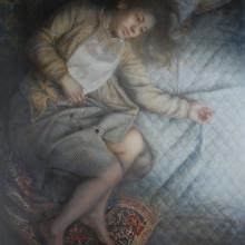 「光の狭間」 シナベニヤ 綿布 白亜地 油絵具 F50 2014年
