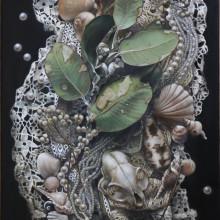 「それぞれの空白」 シナベニヤ 綿布 白亜地 油絵具 M8 2015年